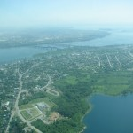 Aerial View of Kahnawà:ke