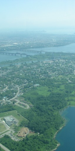 Aerial View of Kahnawà:ke
